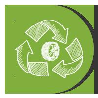 icono reciclaje neumático